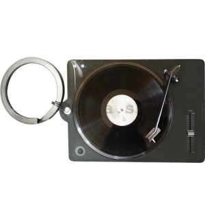 Retro kľúčenka – Retro Vinyl Player