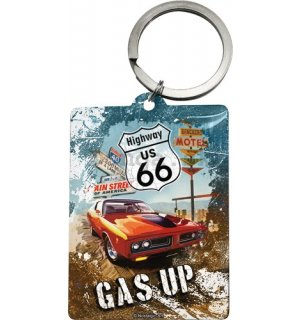Retro kľúčenka – US 66 Gas Up