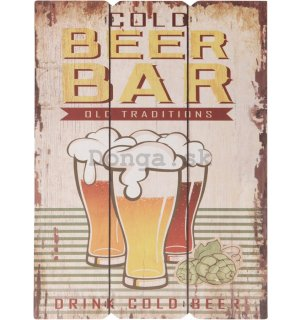 Retro doska – Cold Beer Bar