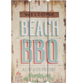 Retro doska – Welcome Beach BBQ