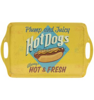 Retro podnos malý - Hot Dogs