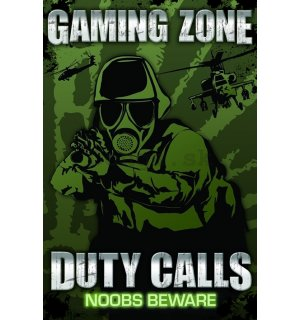 Plagát - Gaming Zone Duty Calls