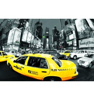 Plagát - NYC Taxis (Times Square) (1)