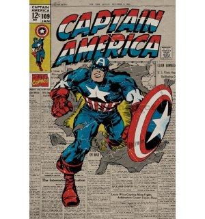 Plagát - Captain America (Retro)