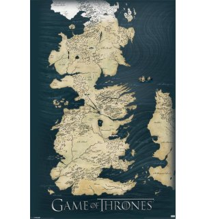 Plagát - Game Of Thrones (Mapa)