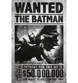 Plagát - Batman Arkham (Wanted)