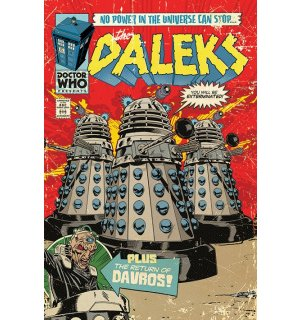 Plagát - Doctor Who (Daleks - Comics)