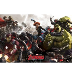 Plagát - Avengers: Age of Ultron (BATTLE)