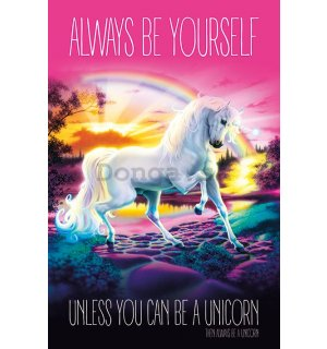Plagát - Unicorn (Always be Yourself)