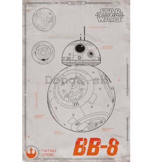 Plagát - Star Wars VII (BB-8)