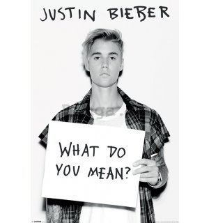 Plagát - Justin Bieber (What Do You Mean?)