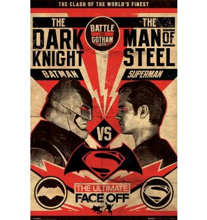 Plagát - Batman vs. Superman (The Ultimate Face Off)