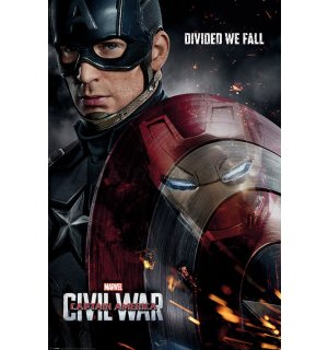 Plagát - Captain America Civil War (Divided We Fall)