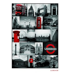 Plagát - London (RED COLLAGE)