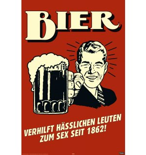 Plagát - German Retro Spoof Bier