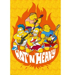 Plagát - Simpsons hot and heavy