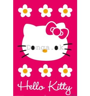Plagát - Hello Kitty magenta