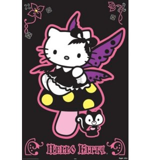 Plagát - Hello Kitty gothic