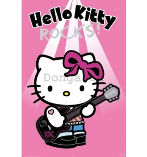 Plagát - Hello Kitty rock
