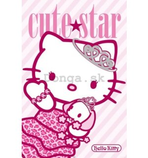 Plagát - Hello Kitty (Cute star)