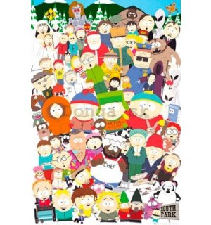 Plagát - South Park cast