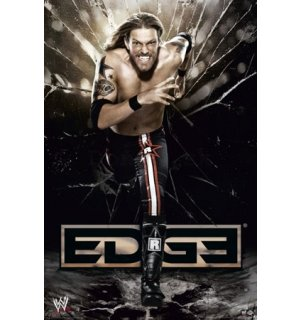 Plagát - WWE edge running