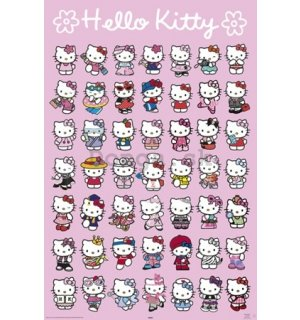 Plagát - Hello Kitty (postavy)