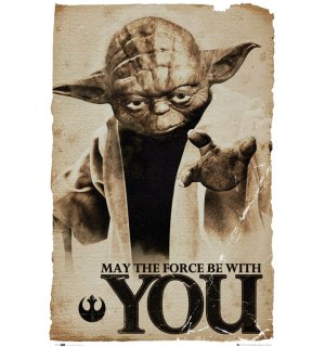 Plagát - Star Wars - Yoda (May the force be with you)