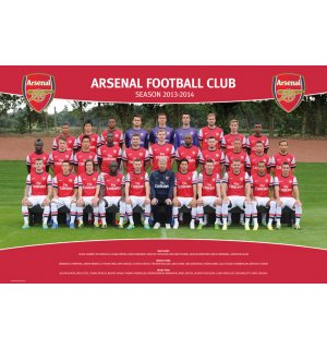 Plagát - Arsenal (Team foto 13/14)