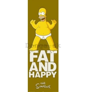 Plagát - Simpsons fat and happy (2)