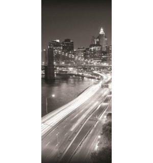 Fototapeta: Čiernobiely Brooklyn Bridge (1) - 211x91 cm