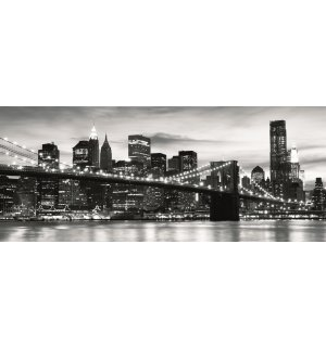 Fototapeta: Brooklyn Bridge (čiernobiely) - 104x250 cm