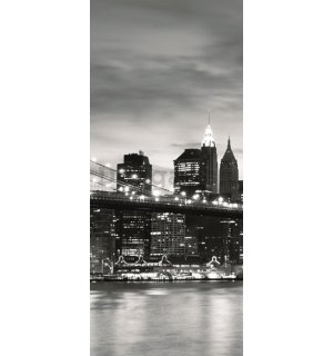 Fototapeta: Brooklyn Bridge (čiernobiely) - 211x91 cm