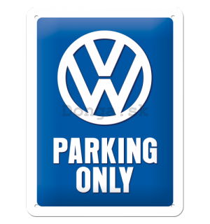 Plechová ceduľa: VW Parking Only - 20x15 cm