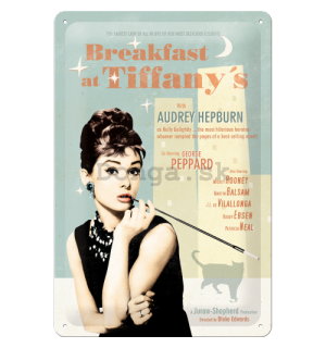 Plechová ceduľa - Breakfast at Tiffanys