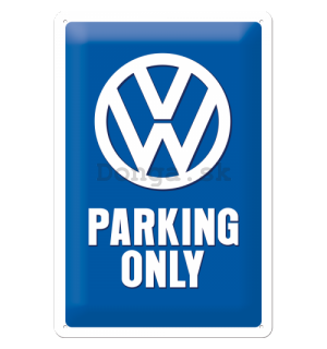 Plechová ceduľa – VW Parking Only - 30x20 cm