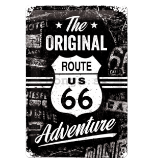 Plechová ceduľa - Route 66 (The Original Adventure)