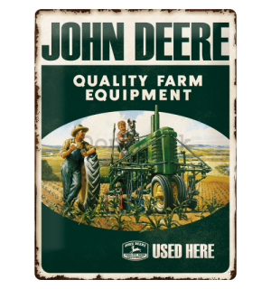 Plechová ceduľa - John Deere (Quality Farm Equipment)