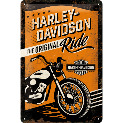 Plechová ceduľa – Harley-Davidson (The Original Ride)
