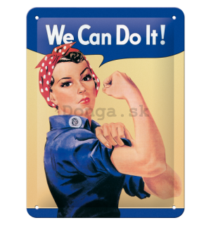 Plechová ceduľa: We Can Do It! - 20x15 cm