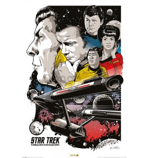 Plagát - Star Trek (To Boldly Go Where No Man Has Gone Before)
