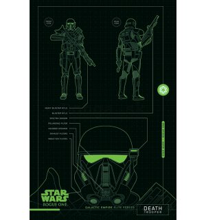 Plagát - Star Wars Rogue One (Death Trooper Blueprints)