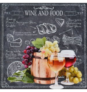Obraz na plátne - Wine and Food (1)