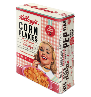 Plechová dóza - Kellogg's (Girl Corn Flakes Collage)