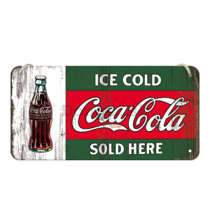 Závesná ceduľa – Coca-Cola (Ice Cold Sold Here)