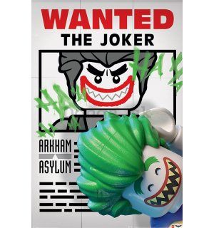 Plagát - LEGO Batman (Wanted the Joker)