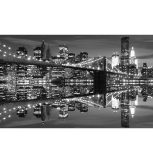 Fototapeta: Čiernobiely Brooklyn Bridge (3) - 184x254 cm