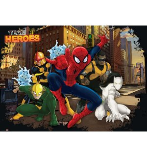 Fototapeta: Team Heroes Spiderman - 184x254 cm