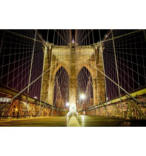 Fototapeta: Nočné Brooklyn Bridge - 184x254 cm