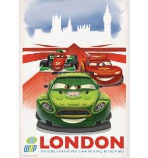 Fototapeta: Cars 2 WGP London (reklama) - 184x254 cm